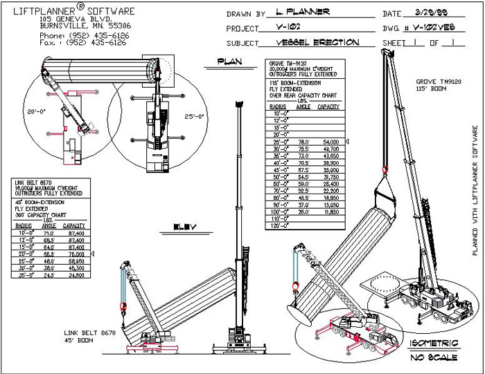 rigging crane lift plan diagrams wiring diagrams