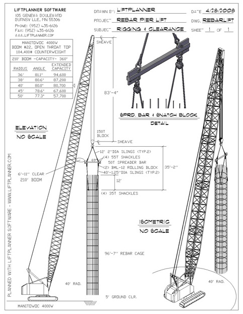 Liftplanner software crane lift planning and rigging software for this lift the hitch rigging creator is used to model the wire chokers passing through the rolling block ccuart Image collections